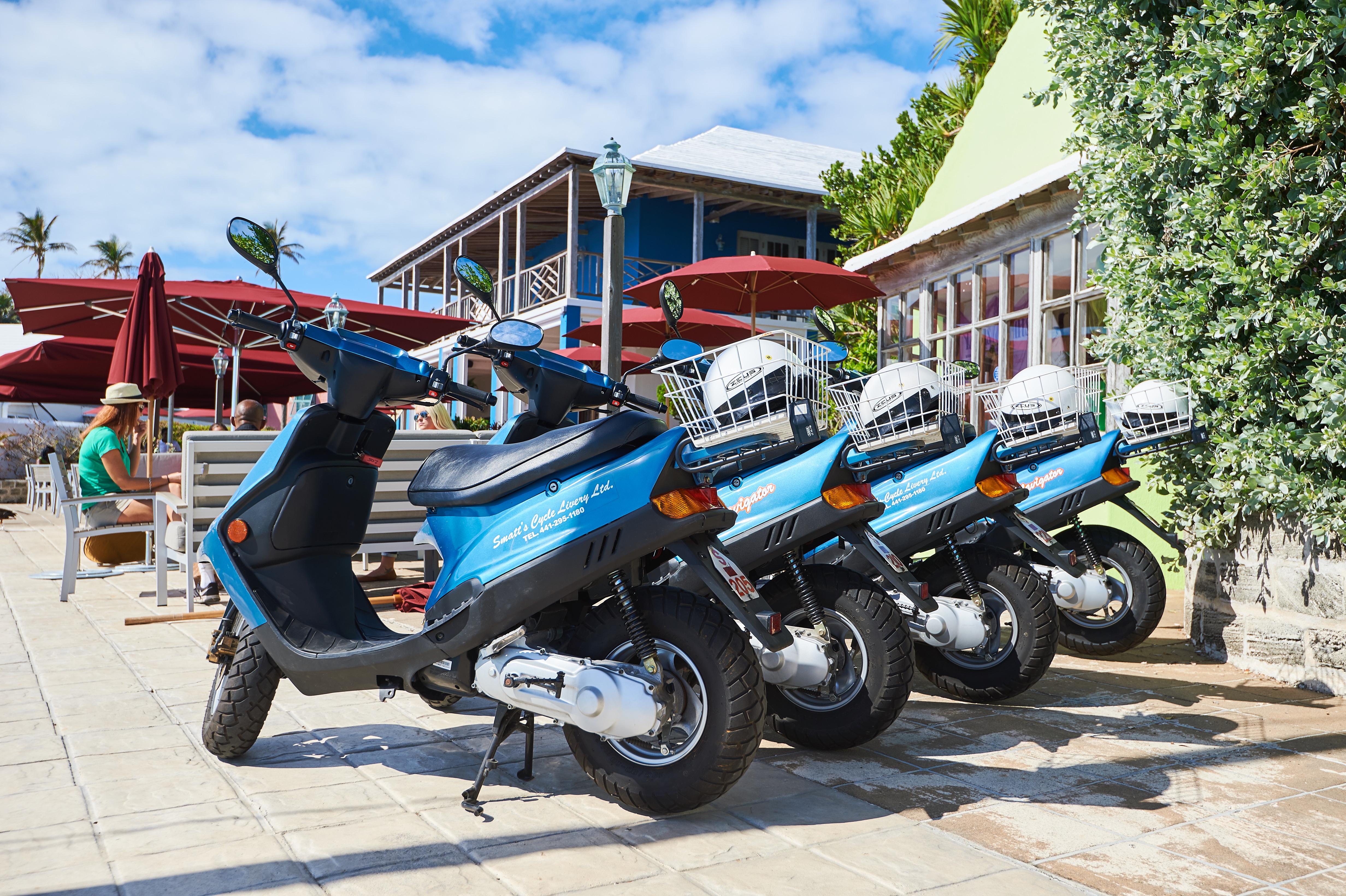 Smatts Cycle Livery Bermuda Scooter Rental 1960s Honda 50cc Bike Show More