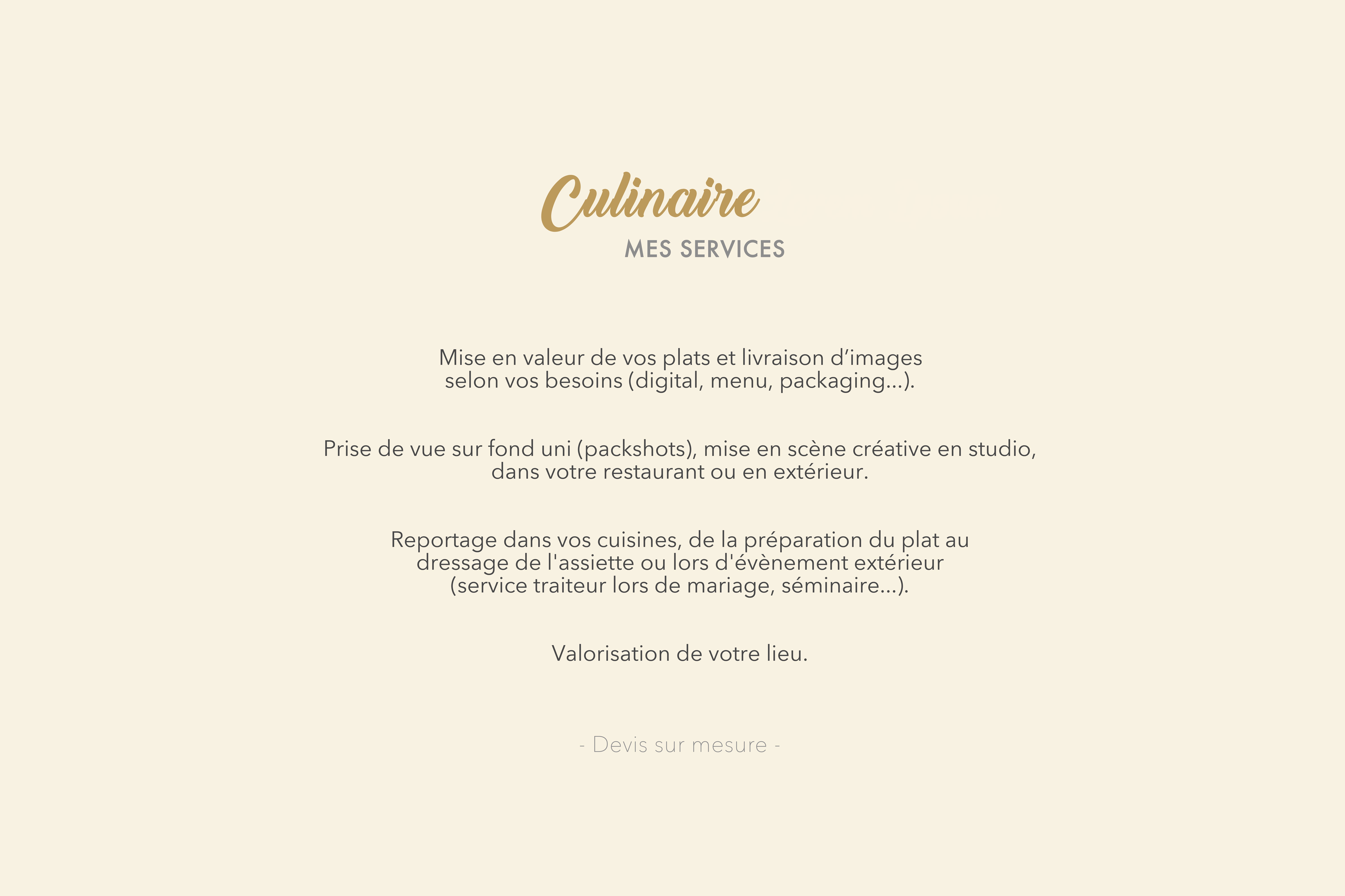Formules-culinaire