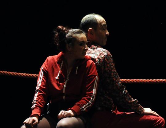 Ariane et Raymond sur le ring