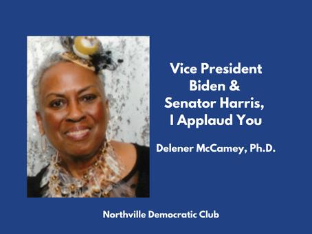 Vice President Biden and Senator Harris, I Applaud You