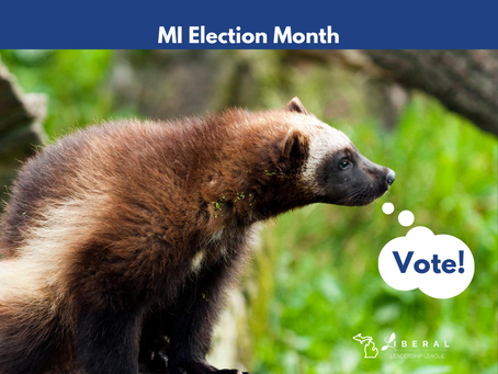 Michigan's State Animal says Vote!