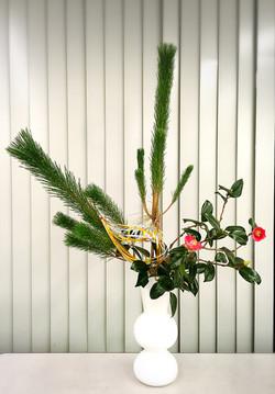お正月のいけばな Ikebana for New Year