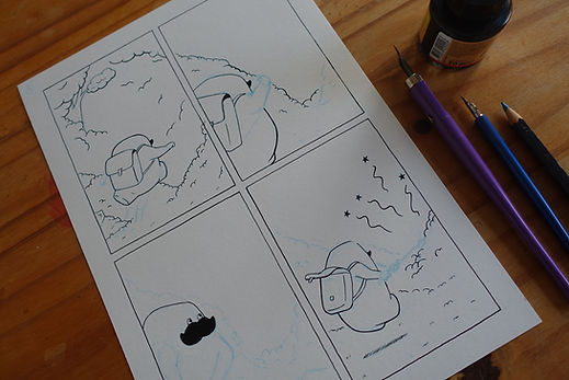 Herman comic inking.JPG