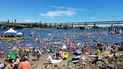 The Big Float on the Willamette River for Human Access
