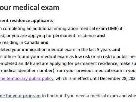IRCC加拿大移民部暂免这一类人移民体检要求