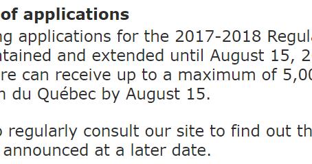 魁北克技术移民旧规一直维持到2018年8月15日