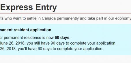 Express Entry快速通道申请时间改变