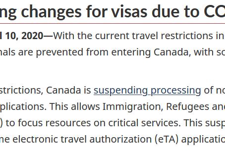 加拿大移民局关于签证/PR处理最新更新
