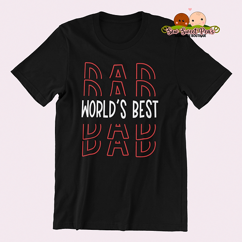 World's best dad Adult Tshirts Sizes S-XL, short sleeved