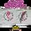 Thumbnail: Sweet Pea's Sparkle 16x16 inch throw Pillowcase