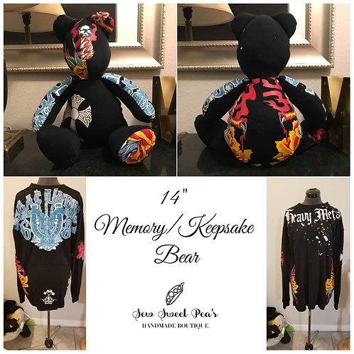 Memory bear, memorial bear, personalized bear, keepsake bear, rememberance bear,