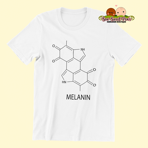 Melanin molecule Adult Tshirts Sizes S-XL, short sleeved