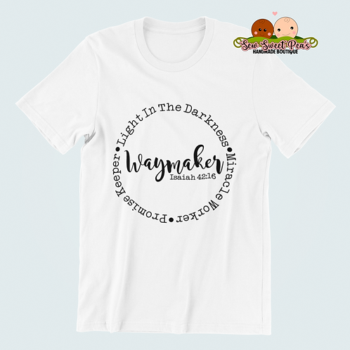 Waymaker Adult Tshirts Sizes S-XL, short sleeved