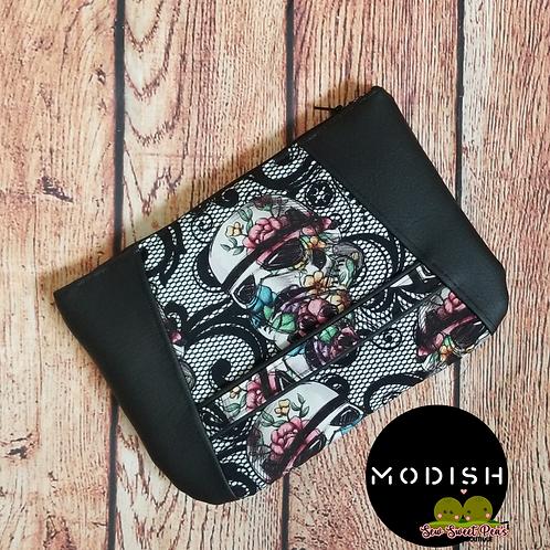 Modish Faux Lace Floral Wars Handbag