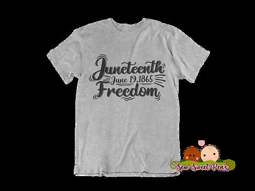 Juneteenth Freedom 1865 Adult Tshirts Sizes S-XL, short sleeved