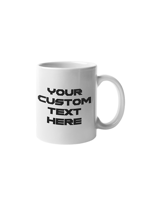Customize your text on 11 oz ceramic mug by Sew Sweet Pea's