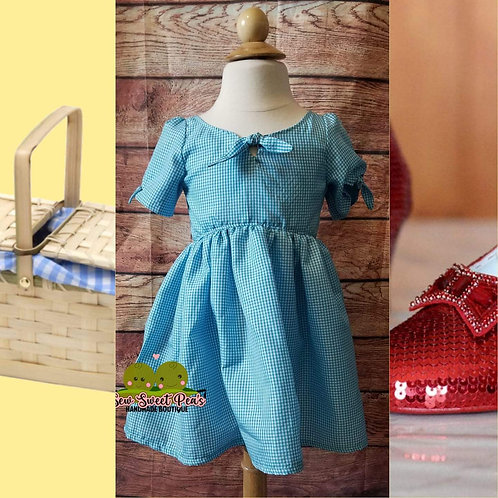 Blue gingham dress 4T