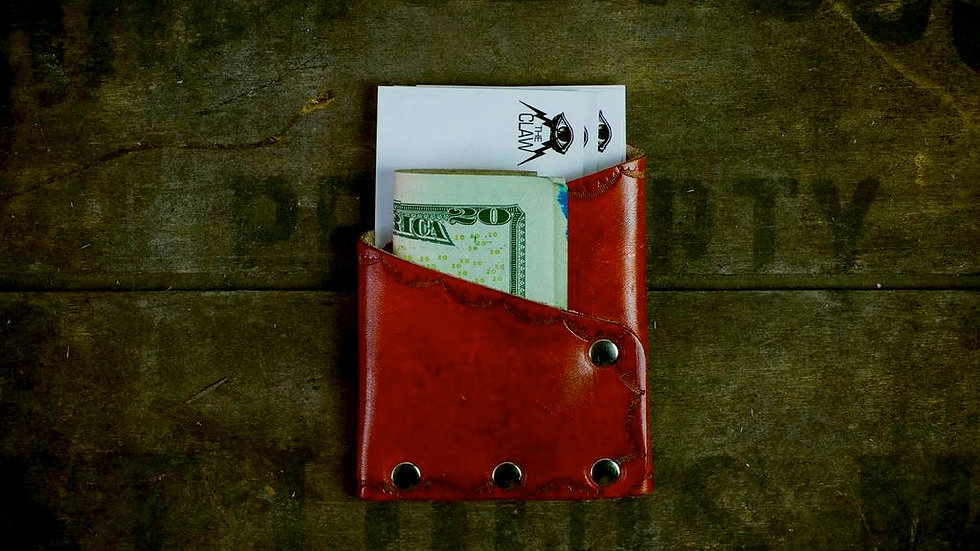 'Lincoln' - Riveted Slim Wallet