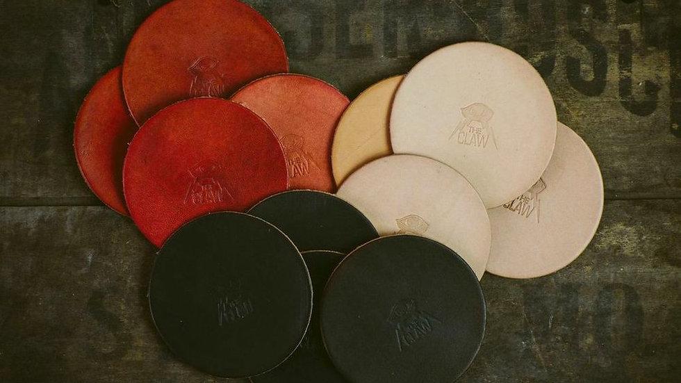 'Stout' - Leather Coaster (Set of 4)