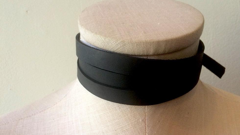 'Serpent' - Layered Unisex Leather Collar