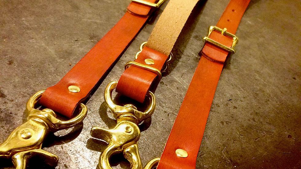 'Tradesman' - Leather Suspenders