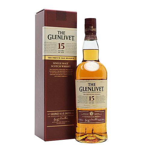 The Glenlivet 15 Years Old Single Malt Scotch Whisky 75cl