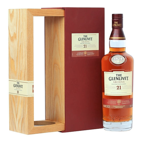 The Glenlivet 21 Years Old Single Malt Scotch Whisky 70cl