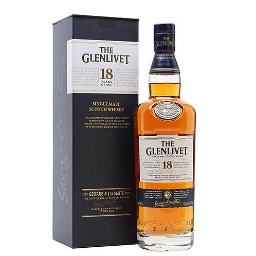 The Glenlivet 18 Years Old Single Malt Scotch Whisky 75cl