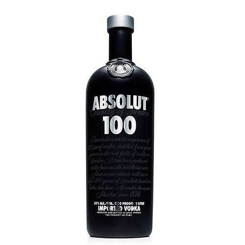 Absolut Black Vodka 100proof 100cl