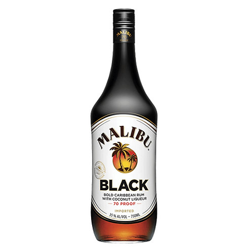 Malibu Black Coconut Rum 70-proof 100cl