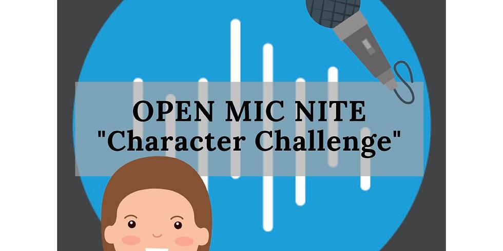 Open Mic #Zoom Nite: Character Challenge
