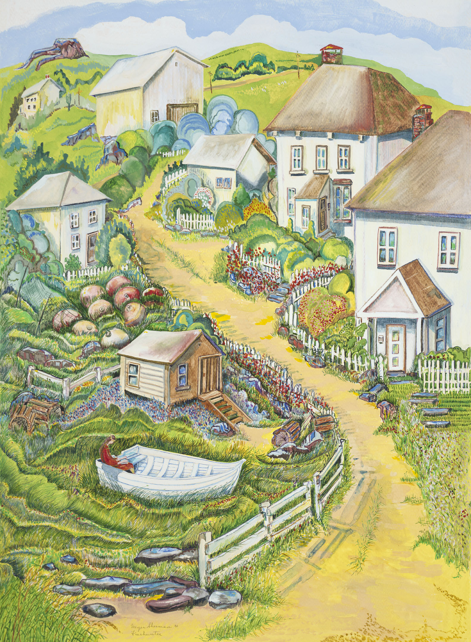 59 newfoundland village 22x30 web