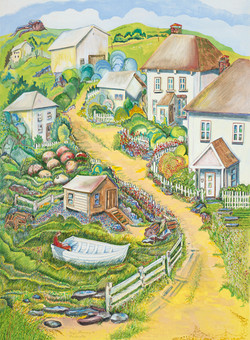 59 newfoundland village 22x30 web