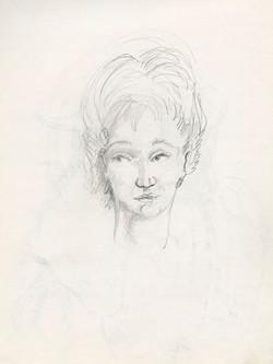 11 woman sketch 9x12 web