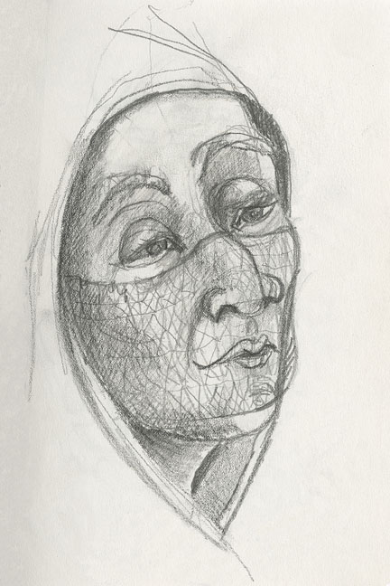 102 veiled woman 6x9 web