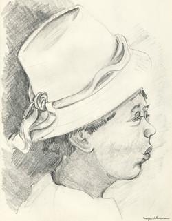 sherman 49 black woman in hat 14x18A3