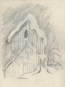 2 snowy barn sketch 9x12 web