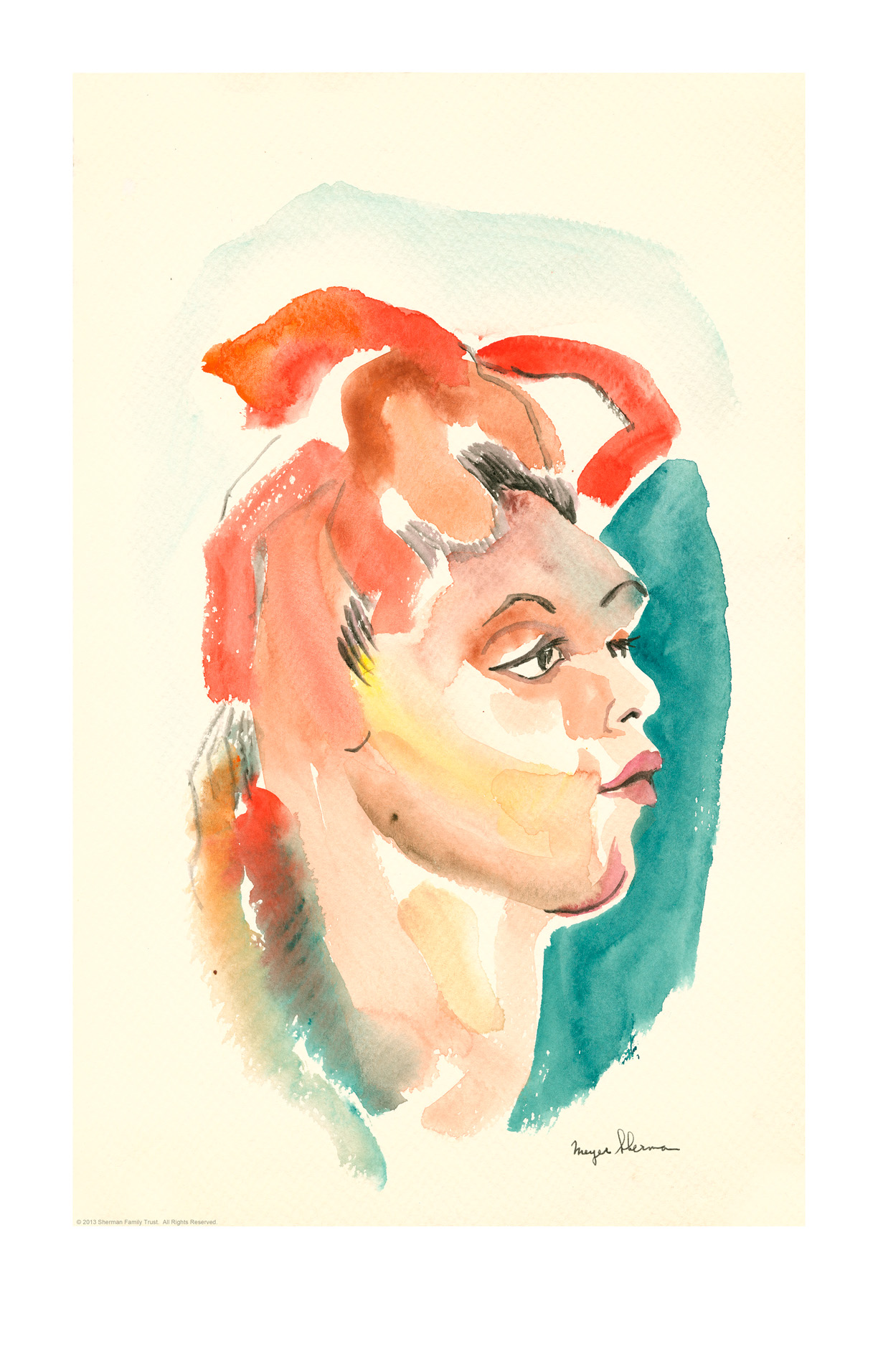 sherman watercolor girl A 12x19out