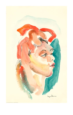 sherman watercolor girl A 12x19out