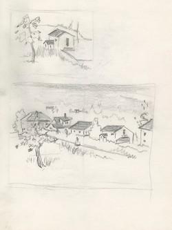 6 Newfoundland Townscape  sketches 9x12 web