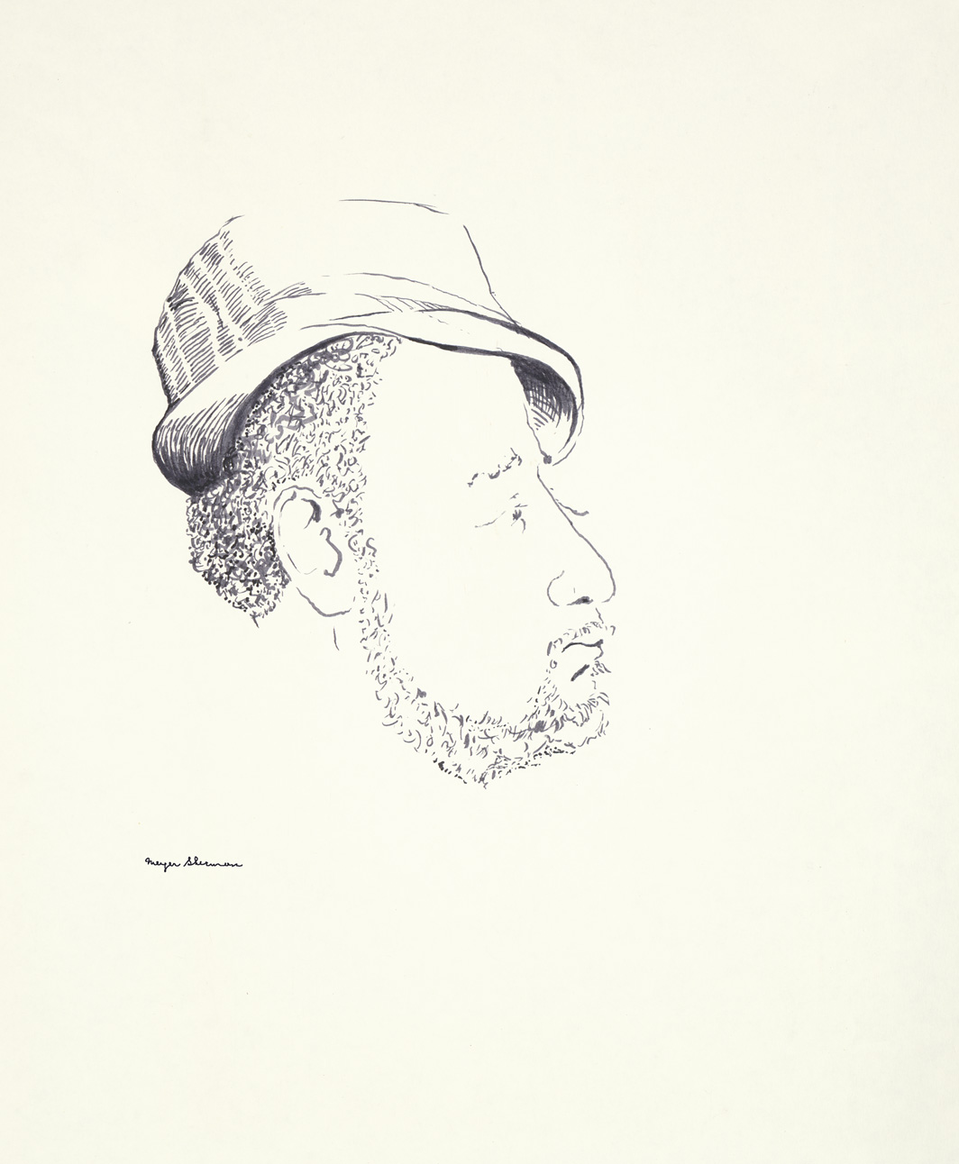 sherman 59 man with hat and beard 14x17A1
