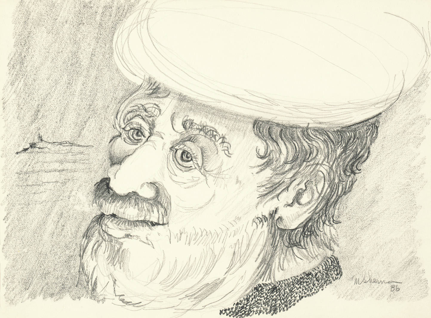 sherman 63 man with hat 14x19A2
