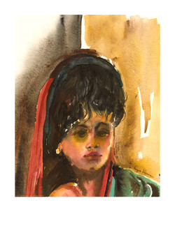 sherman watercolor girl2 A1 12x15 out
