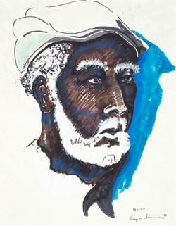 sherman 64 blue man 14x18A2