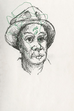 44 black woman with hat 6x9 web
