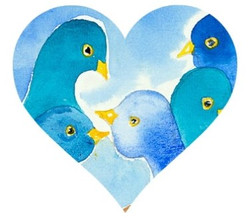 Love Birds Heart Cut Out
