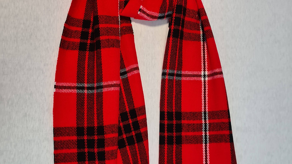 Red & Black check Wool acrylic Scarf