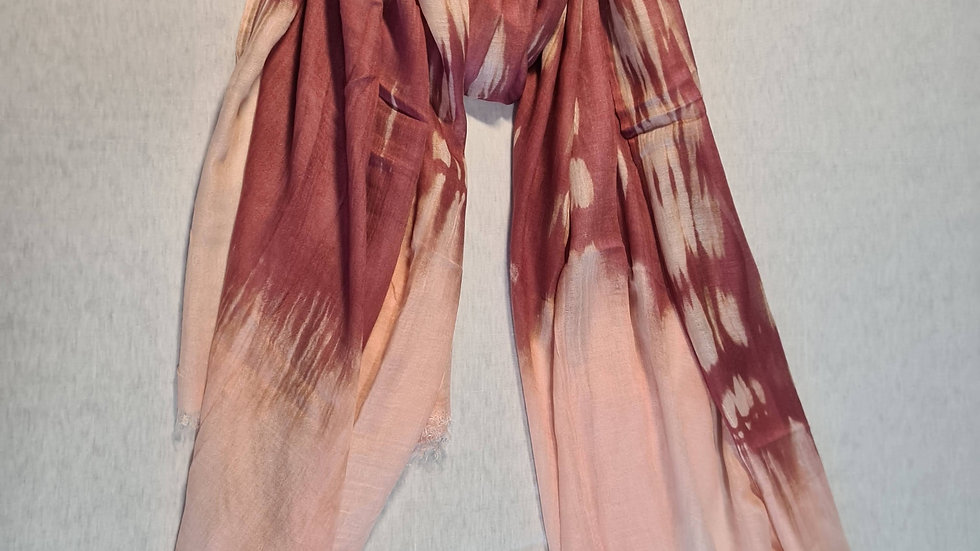 Pink Ombre print scarf
