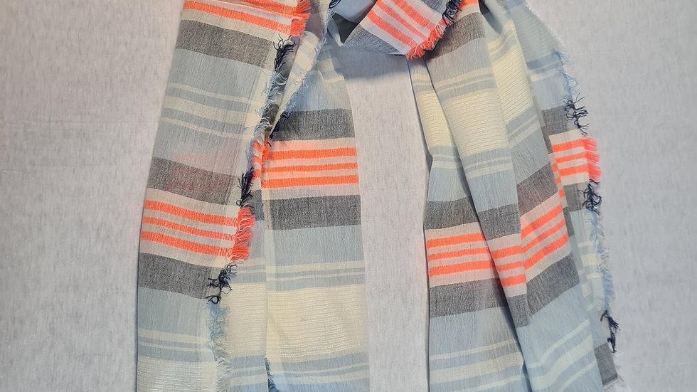Pastel vertical stripe print scarf