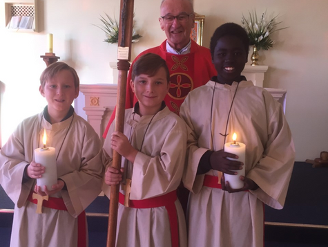 New Altar Servers Debut at Sunday Mass